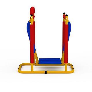 彩色健身器材3d模型