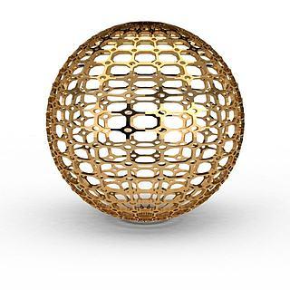 镂空金属球3d模型