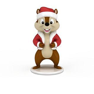 松鼠摆件3d模型