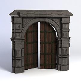 欧式城门3d模型