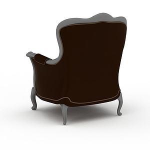3d<font class='myIsRed'>美式沙发</font>椅模型