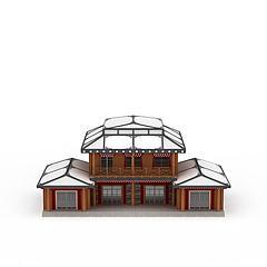 藏式建筑房屋模型3d模型