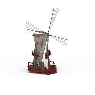 荷兰风车3d模型