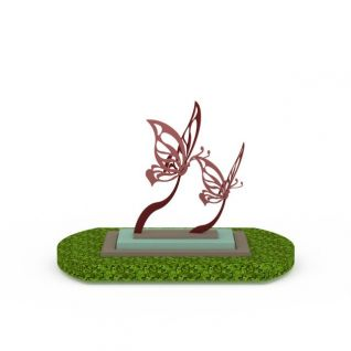 蝴蝶景观小品3d模型