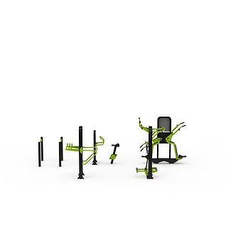 健身器材组合3d模型