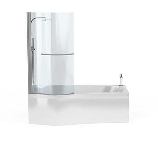 浴缸套装3d模型