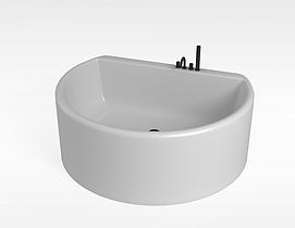 半圆形浴缸模型