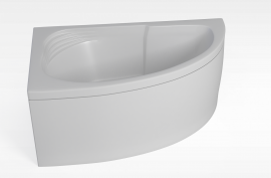 扇形浴缸模型