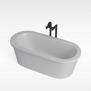 超白瓷面浴缸模型