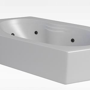 多边形浴缸模型