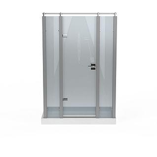 推拉门淋浴室3d模型