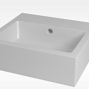 方形小浴缸模型