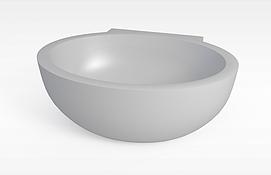 圆浴缸模型