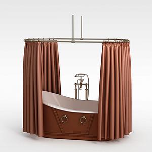 豪华浴缸模型