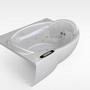 按摩浴缸模型