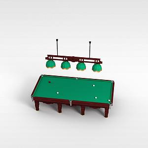 3d球桌模型