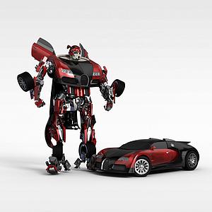 变形金刚汽车模型3d模型