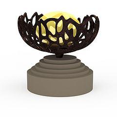 园林装饰坛模型3d模型