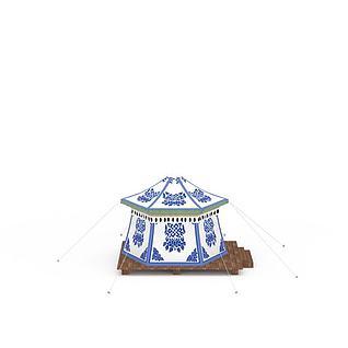 藏式帐篷3d模型