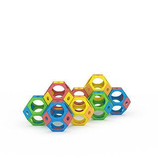 球体迷宫钻洞3d模型