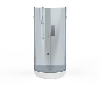 圆形淋浴室3d模型
