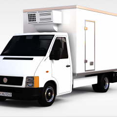 白色卡车3D模型3d模型