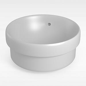 圆形小浴缸模型