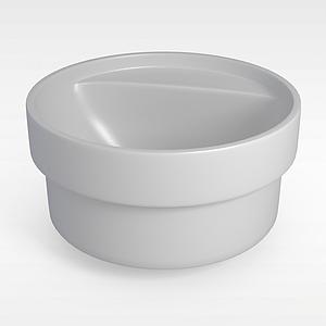 圆形按摩浴缸模型