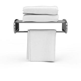 酒店毛巾架3d模型