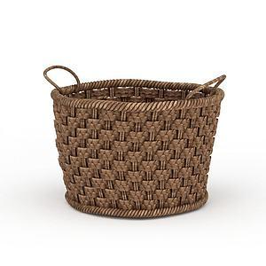 3d编织竹筐模型