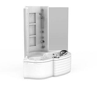 浴缸组合3d模型