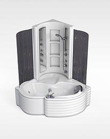 浴缸组合模型
