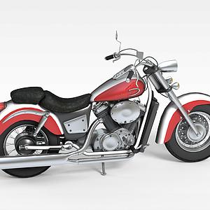 紅色摩托車模型