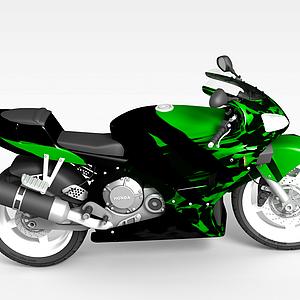 綠色摩托車模型