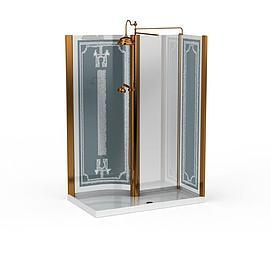 精装淋浴室模型