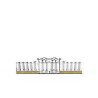 大铁门3d模型