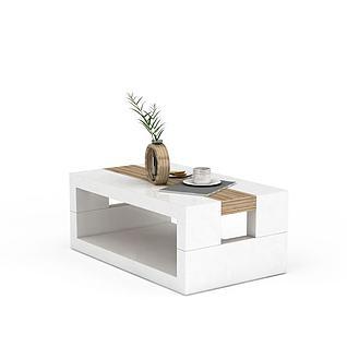 休闲边桌3d模型