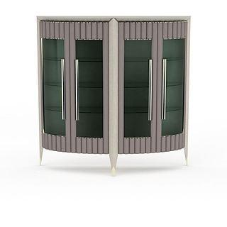 大型展示柜3d模型