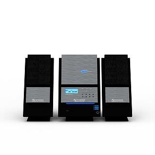 音响设备3d模型