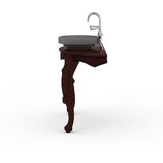 冲洗瓷盆3d模型