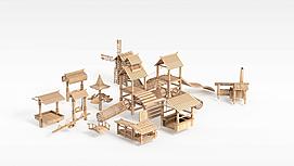 木质<font class='myIsRed'>古建筑</font>3d模型