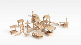 3d木质<font class='myIsRed'>古建筑</font>模型