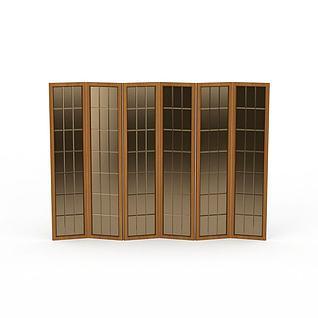 折叠屏风3d模型