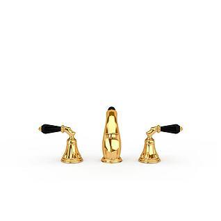 金色水龙头3d模型