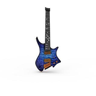 炫酷吉他3d模型