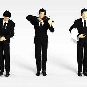 男服務員模型
