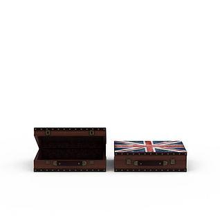 皮箱3d模型