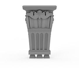 欧式柱头模型