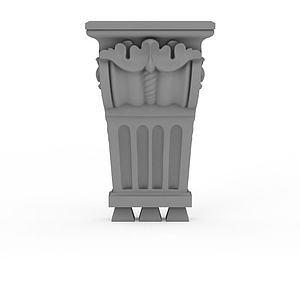 歐式柱頭模型