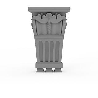 欧式柱头3d模型
